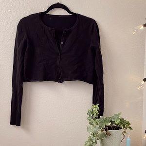 Vintage Black Cropped Cardigan